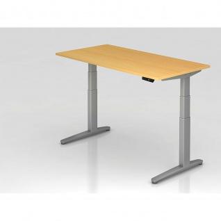 Hammerbacher Büro Schreibtisch Stehtisch höhenverstellbar 180x80 cm Modell XBHM19 mit Memory-Schalter