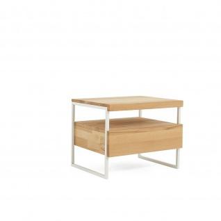 Moderner Nachttisch Nachtkonsole Massivholz/Metall Bondi