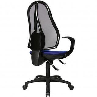 Topstar Bürodrehstuhl Open Point SY royalblau mit Netzrücken schwarz
