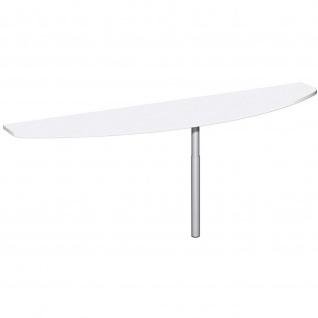 Gera Anbautisch mit Stützfuß für Schreibtisch Bürotisch 4 Fuß Eco 2000x500mm