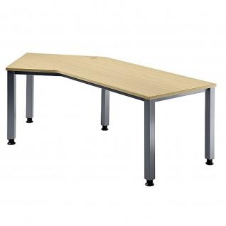 Büro Schreibtisch 210x113 cm Winkelform Modell QS21