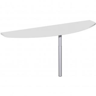 Gera Anbautisch mit Stützfuß für Schreibtisch Bürotisch 4 Fuß Eco 1600x500mm