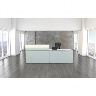 Kerkmann Design-Theke Theke Atlantis Glas niedriges Modul (B)1350x(T)820x(H)750mm