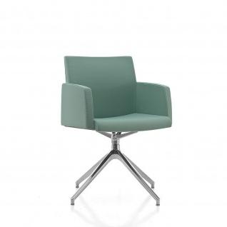 Kastel Design Lounge Sessel KRIBIO Spinnenfuß drehbar aus Aluminium