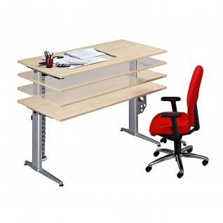 Büro Schreibtisch Stehtisch höhenverstellbar 160x80 cm Modell XE16
