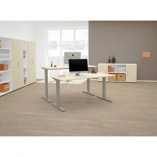Elektro Flex Schreibtisch elektrisch höhenverstellbar 1600x800x650-1250cm diverse Dekore