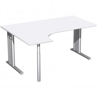 Gera PC-Schreibtisch Bürotisch C Fuß Pro links 1600x800/1200x720mm