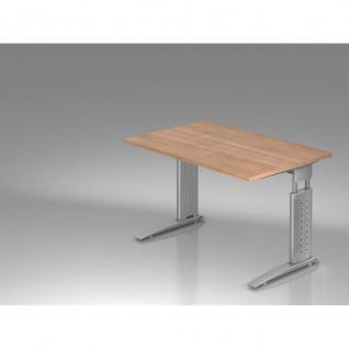 Büro Schreibtisch 120x80 cm Modell US12 mechanische Höheneinstellung