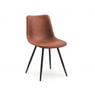 Design Stuhl Esszimmerstuhl Lino 1 Gestell schwarz Stoff
