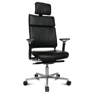 Bürodrehstuhl Chefsessel New Aluart Classic echt Leder