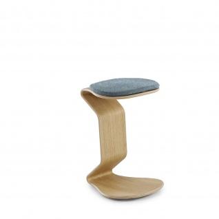 Ercolino - big mit flachem Sitzpolster Oberfläche Eiche oder Buchefurniert geölt