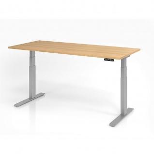 Büro Schreibtisch Stehtisch höhenverstellbar 180x80 cm Modell XDKB19 mit Memory-Schalter