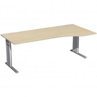 Gera PC-Schreibtisch Bürotisch C Fuß Pro rechts 2000x800/1000x720mm
