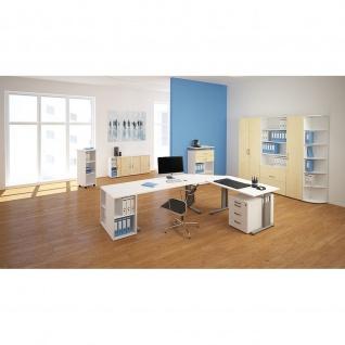 Gera Schreibtisch Bürotisch C Fuß Flex 1600x800x720mm ahorn buche lichtgrau weiß