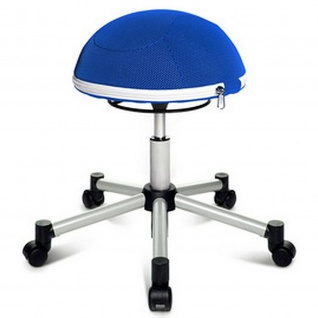 Hocker Sitness Half Ball blau