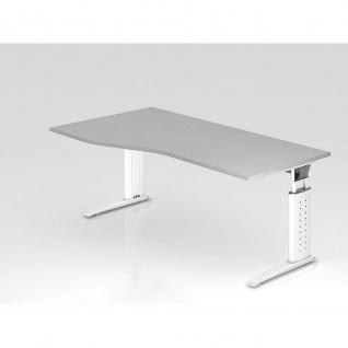 Büro Schreibtisch 180 x100 cm Freiform Modell US18 mechanische Höheneinstellung