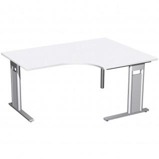 Gera PC-Schreibtisch Bürotisch C Fuß Pro rechts 800/1600x800/1200x720mm