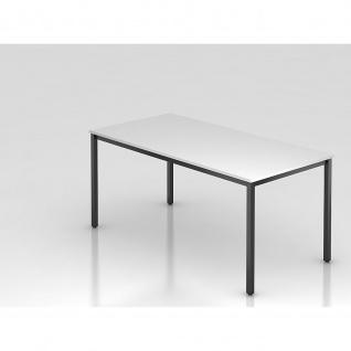 Konferenztisch Meeting D Modell DQ 16 Gestell schwarz Tischfuß eckig