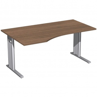 Gera PC-Schreibtisch Bürotisch C Fuß Pro links 1600x800/1000x720mm