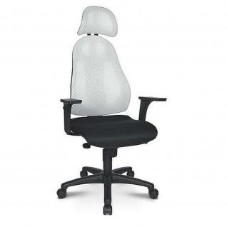 Topstar Bürodrehstuhl FREE ART mit Kopfstütze und Bandscheibensitz