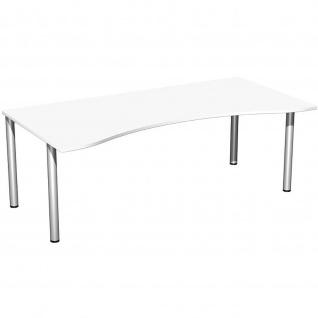 Gera Ergonomieform Schreibtisch Bürotisch 4 Fuß Flex 2000x800/1000x720mm