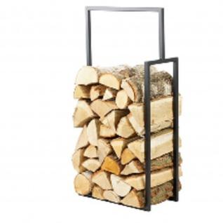 Brennholzregal R135A schwarz Maße: 50/20/90 cm