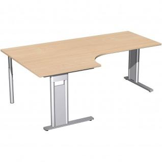 Gera PC-Schreibtisch Bürotisch C Fuß Pro links 800/2000x800/1200x720mm