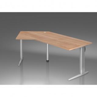Büro Schreibtisch 210x113 cm Winkelform Modell XS21