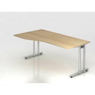 Büro Schreibtisch 180x100 cm Freiform Modell NS18