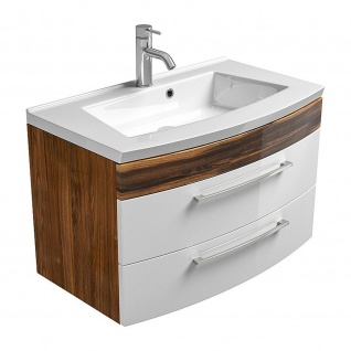 Badmöbel Badezimmer Gästebad Waschplatz Rima, MDF-Hochglanz Fronten