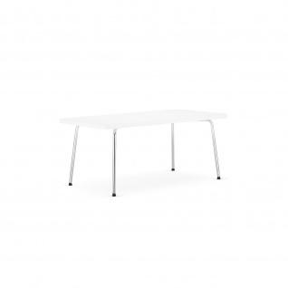 Holztisch Beistelltisch Krone 55 x 110 cm verchromt