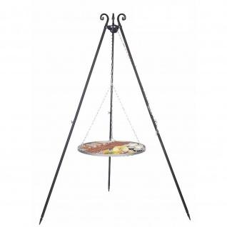 Outdoor Grill mit Dreibein Viking und Rost aus Edelstahl in verschiedenen Größen