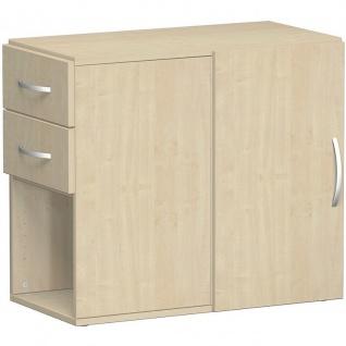 Gera Anstellregal Anstellcontainer Regal 2 OH inkl. Schubkästen und Tür