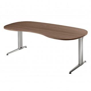 Büro Schreibtisch 200x100 cm Nierenform Modell XS20