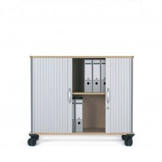 Gera Querrollladenschrank Rollladenschrank Aktenschrank 2 OH inkl. Rollen B:800mm