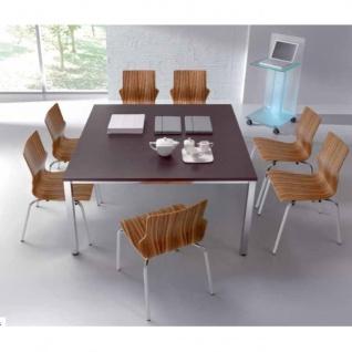 Schreibtisch Bürotisch E10 Toro Tiefe 100 cm Quadratrohrgestell alu weiß dkl.grau schwarz