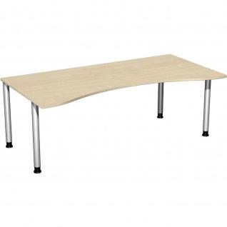 Gera Ergonomieform Schreibtisch Bürotisch 4 Fuß Flex höhenverstellbar 2000x800/1000x680-800mm