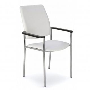 Konferenzstuhl Besucherstuhl Objektstuhl Zen Arm 4-Bein Gestell verchromt C-Stoff