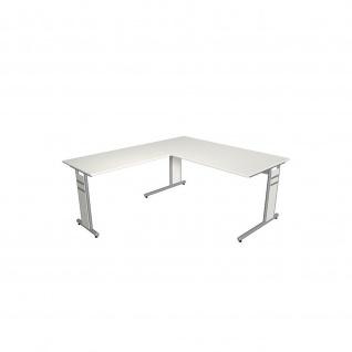 Kerkmann Schreibtisch 4090 Form 4 160x80 x mit C-Fuß-Gestell und Anbautisch