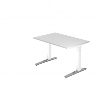 Büro Schreibtisch Stehtisch höhenverstellbar 120x80 cm Modell XB12