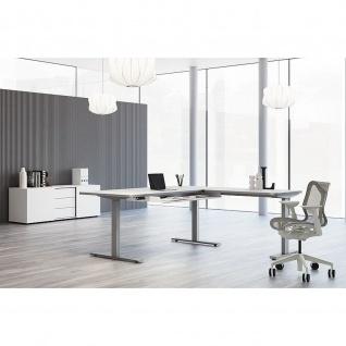 Kerkmann Schreibtisch Sitz-Stehtisch Move 3 Premium 160x80x72-121cm inkl. Anbautisch 100x60cm elektr. höhenverstellbar mit Memoryfunktion