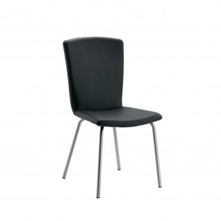 Design Stuhl Esszimmerstuhl Modello 1 Gestell Edelstahl