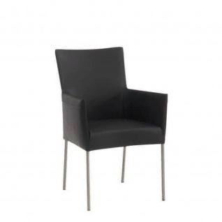 Design Stuhl Esszimmerstuhl Plomp 1 verchromt