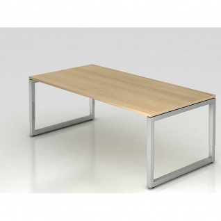 Büro Schreibtisch 200x100 cm Modell RS2E mechanische Höheneinstellung
