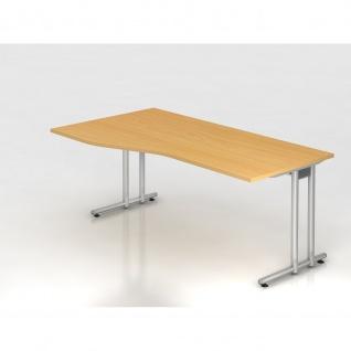 Büro Schreibtisch 180x80/100 cm Freiform Modell NS18
