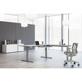 Kerkmann Schreibtisch Sitz-Stehtisch Move 3 Premium 180x80x72-121cm inkl. Anbautisch 100x60cm elektr. höhenverstellbar mit Memoryfunktion