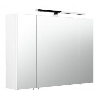Badmöbel Badezimmer Gästebad Spiegelschrank 5674 90 cm breit incl. LED Lampe