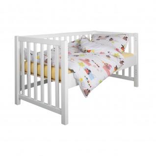 Babybett Kinderbett Multifunktionsbett 4 in 1 Lina massiv 70 x 140 cm
