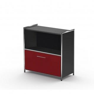 Kerkmann 7990 Sideboard Regal Artline breit mit einem Schubfach rot 80x38x78 cm 2 OH
