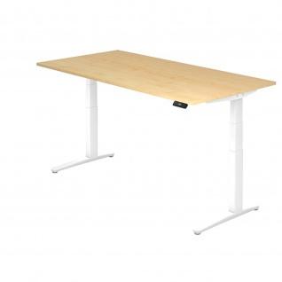 Hammerbacher Büro Schreibtisch Stehtisch höhenverstellbar 200x100 cm Modell XBHM2E mit Tast-Schalter